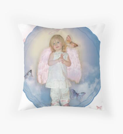 Everybody's Angel Throw Pillow