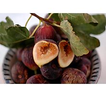 Figs In A Bowl Photographic Print