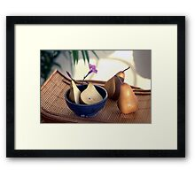 Morning Pears Framed Print