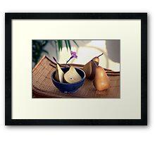 Morning Pears Framed Print