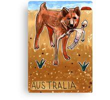 Greetings From Australia - Dingo Canvas Print