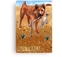 Greetings From Australia - Dingo Canvas Print