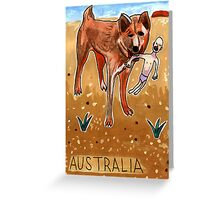 Greetings From Australia - Dingo Greeting Card