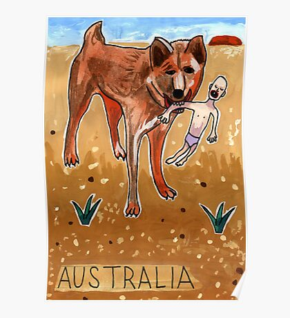 Greetings From Australia - Dingo Poster