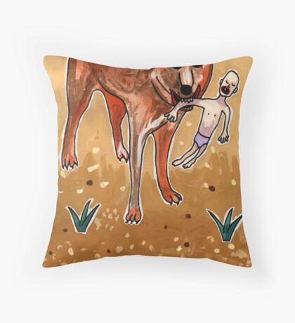 Greetings From Australia - Dingo Throw Pillow