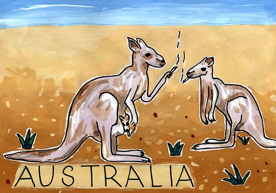 Greetings From Australia - Kangaroo by John Douglas