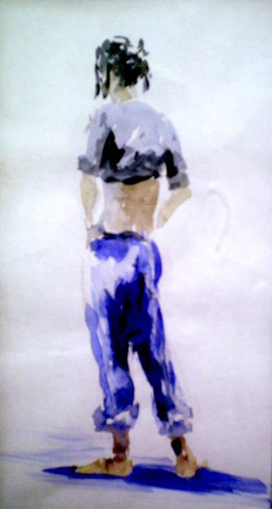 Rebecca; fast water-colour 1 by pauldrobertson