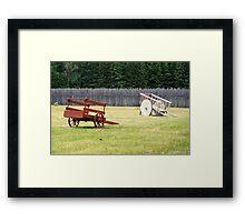 Two Wooden Wheelbarrows Framed Print