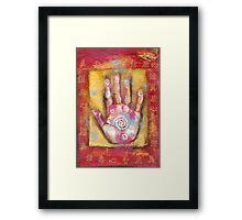 Chinese Energy Hand Framed Print