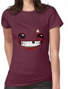 SuperMeatBoyLogo Womens Fitted T-Shirt