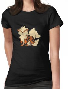 Arcanine Fire Pokemon Womens Fitted T-Shirt