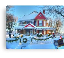 Christmas House Canvas Print