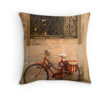 Parisan Bicycle Throw Pillow