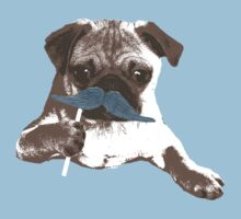 Funny Mustache Pug Kids Clothes
