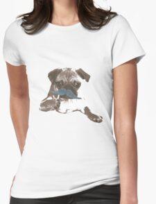 Funny Mustache Pug T-Shirt