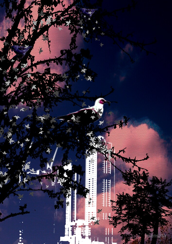 Bird in the city by jmenszta