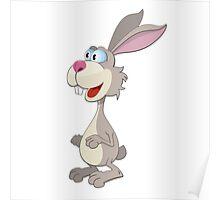 Funny rabbit cartoon bunny Poster