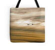 Helitankers At Sunset  Tote Bag