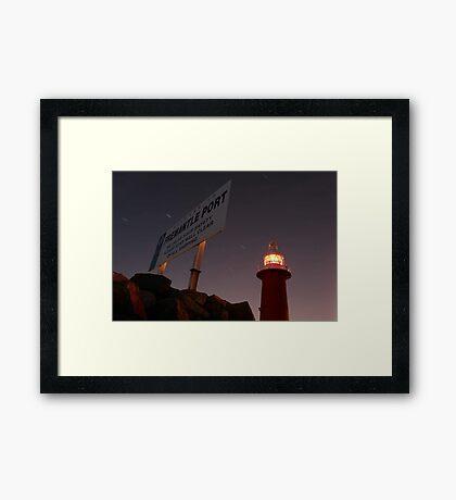 North Mole Lighthouse - Fremantle Western Australia  Framed Print