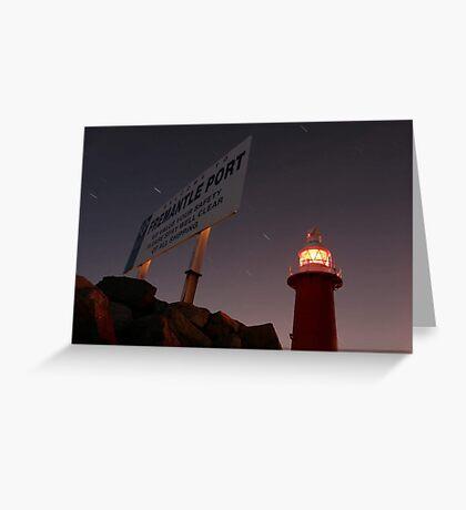 North Mole Lighthouse - Fremantle Western Australia  Greeting Card