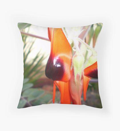 Desert Pea Throw Pillow
