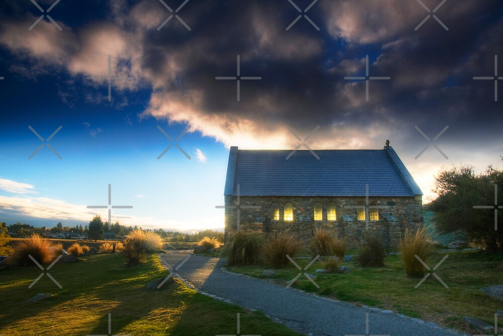 Church of the Good Shepherd - Sunset by Mel Brackstone