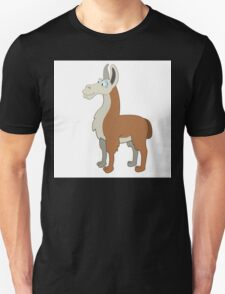 Friendly cartoon lama Unisex T-Shirt