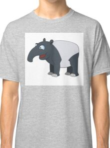 Happy cartoon coati smiling Classic T-Shirt