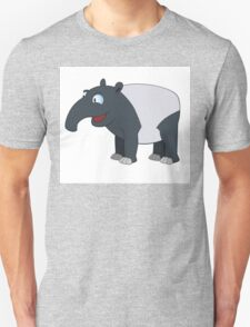 Happy cartoon coati smiling Unisex T-Shirt