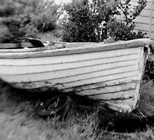 Wooden boat  - Melbourne by Norman Repacholi