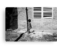 Cuban Child in Slums Canvas Print