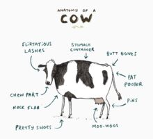 Anatomy of a Cow Kids Clothes