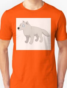 Attentive cartoon polar wolf Unisex T-Shirt