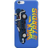 Nerd things - tardis delorean mash up iPhone Case/Skin