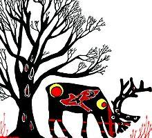 reindeer  by mantahay