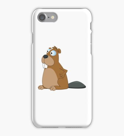 Funny cartoon beaver iPhone Case/Skin