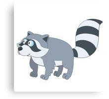Adorable cartoon raccoon Canvas Print