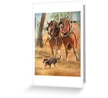 Getting The Job Done ! Greeting Card