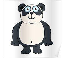 Happy cartoon panda Poster
