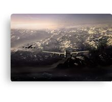 Target in sight: sinking the Tirpitz Canvas Print