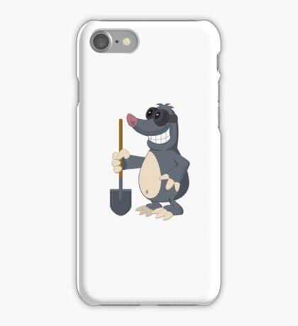 Funny cartoon mole iPhone Case/Skin