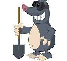 Funny cartoon mole by berlinrob