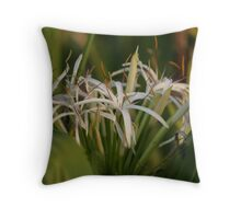 Flowers Amidst The Green Throw Pillow
