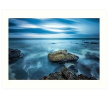 Atlantic ocean rocks Art Print
