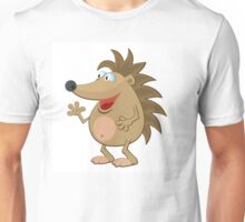 Waving cartoon hedgehog Unisex T-Shirt