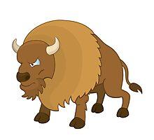Cute cartoon buffalo Photographic Print