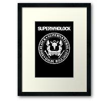 Superwholock Ramones Framed Print
