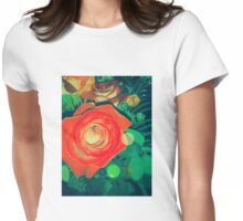 Vintage Rose Womens Fitted T-Shirt