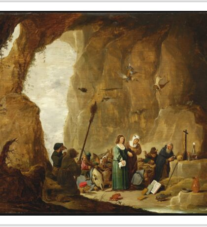 David Teniers The Younger - The Temptation Of St. Anthony Sticker
