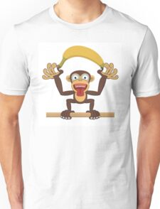 Funny cartoon monkey Unisex T-Shirt